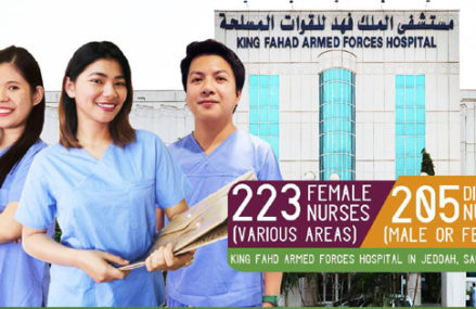 King Fahad Armed Forces Hospital in Jeddah needs 400+ nurses