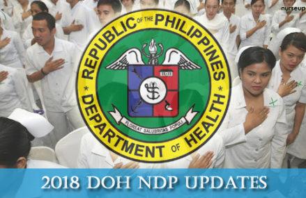 DOH NDP 2018 Application Updates