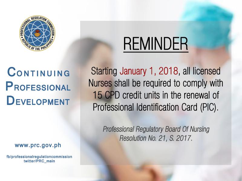 prc cpd for nurses