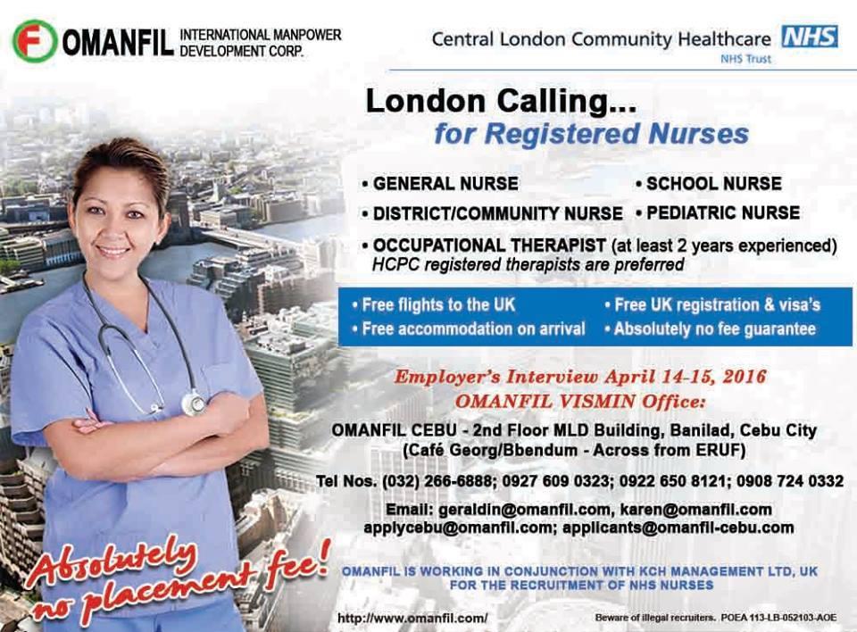 Omanfil International hiring nurses for Central London ...