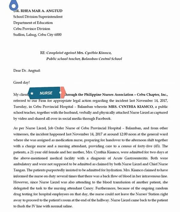 cebu nurse complaint