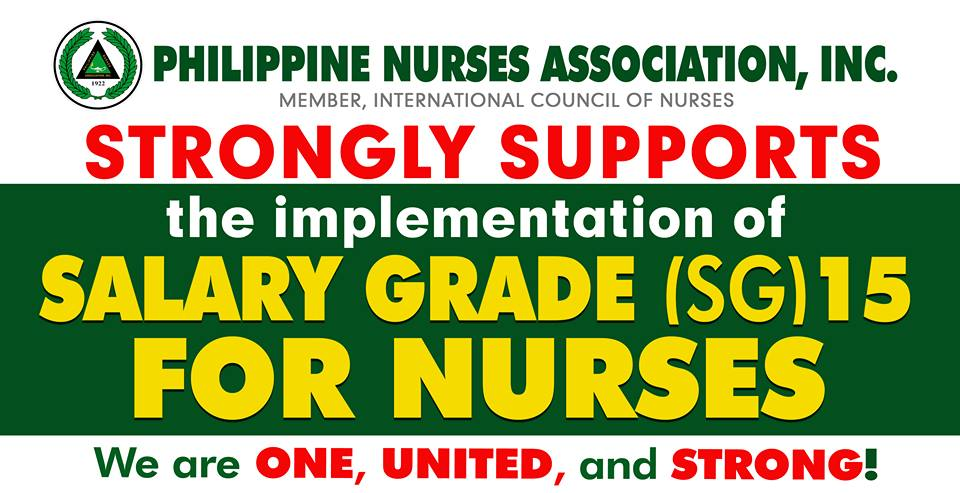 Philippine Nurses Association supports SG 15