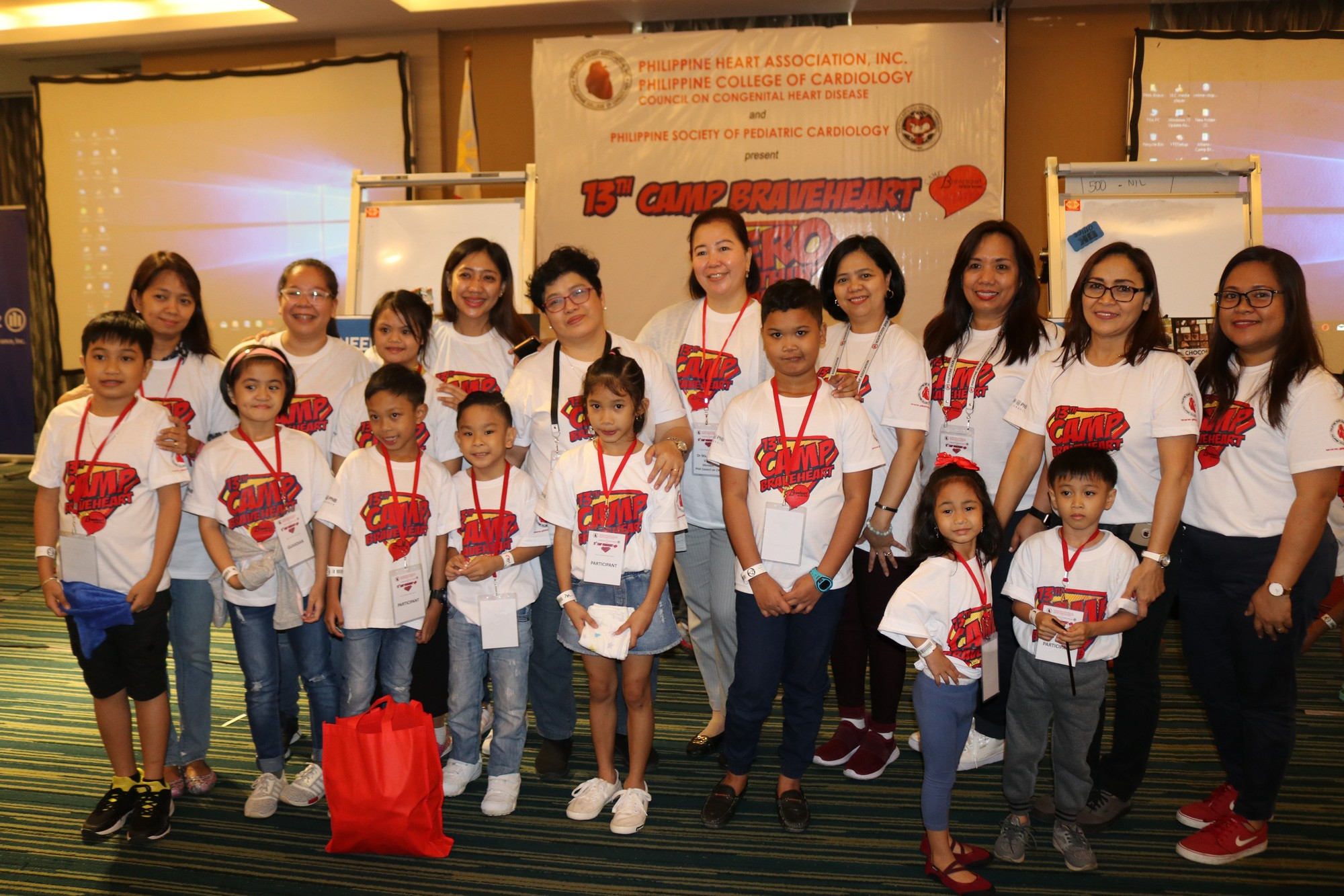 Post-surgical kids with heart diseases who participated in recent Camp Braveheart program of Allianz Philippines, PHA, and PSPC.